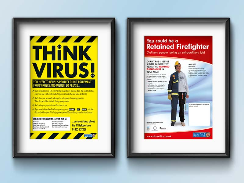 Dorset Fire and Rescue Posters