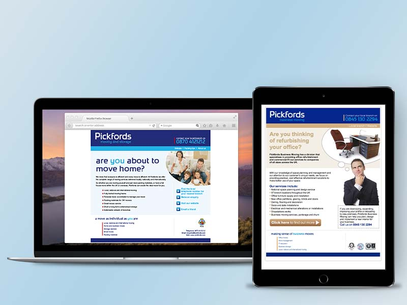 Pickfords Removals email
